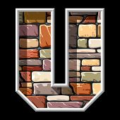 stone letter U