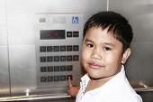 Boy Inside Elevator