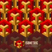 Abstract 3D isometric background. Template Layout for Brochure / flyer / presentation / print