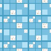 Abstract Seamless Patchwork Checkered Plaid Textile Design Pattern Background