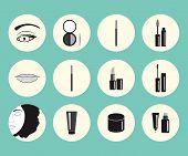 Vector Illustration On Makeup Theme.