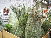 Christmas tree equipment decoration sell in market