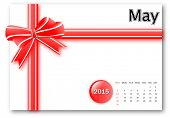 May 2015 - Calendar series with gift ribbon design