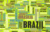 Brazil as a Country Abstract Art Concept
