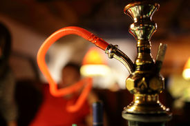 stock photo of hookah  - Part of a hookah in the arabic restaurant - JPG