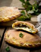 image of nettle  - calzone with ricotta and nettle - JPG
