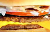 pic of burger  - macro fresh tasty a burger with meat  - JPG