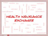 image of mandates  - Health Insurance Exchange Word Cloud Concept on a Whiteboard with great terms such as silver plans levels subsidies and more - JPG