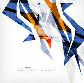 foto of color geometric shape  - Angular geometric color shapes - JPG