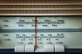 foto of musical scale  - fragment of the scale old Soviet radio - JPG