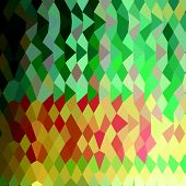 stock photo of harlequin  - Low polygon style illustration of emerald green harlequins abstract geometric background - JPG