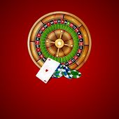 pic of roulette table  - Background with chips and roulette - JPG