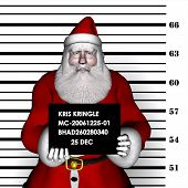 image of humbug  - santa arrested for breaking and entering