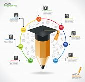 picture of education  - Education infographic Template - JPG