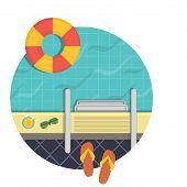 pic of swimming  - Vector illustration  - JPG