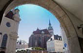 foto of bavaria  - View through an arch in the city of Munich in Bavaria - JPG