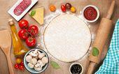 pic of ingredient  - Pizza cooking ingredients - JPG