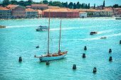 foto of blue-bell  - View from Campanile bell tower on yacht in Grand Canal - JPG