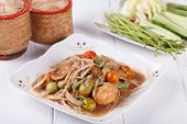 stock photo of green papaya salad  - Somtum - JPG