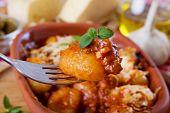 Gnocchi Di Patata, Papa italiano tallarines