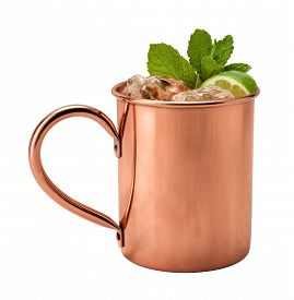 pic of vodka  - Moscow Mule in a Copper Mug - JPG
