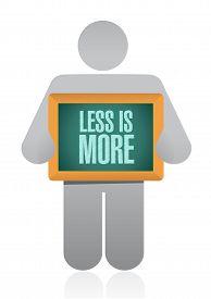 foto of avatar  - less is more avatar sign concept illustration design - JPG