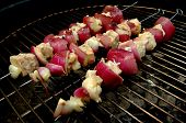 Swordfish And Red Onion Kabobs