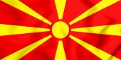 Постер, плакат: 3D Flag Of The Macedonia