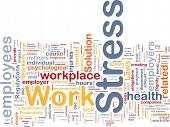 Background concept wordcloud illustration of work stress