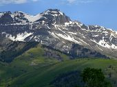foto of rocky-mountains  - Rocky Mountains of Colorado near Telluride Colorado snow capped