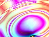 Fractal rendition of colored ripple back ground
