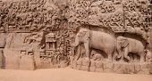 foto of arjuna  - One of the ancient architectural wonders of the Pallava kings in south India - JPG