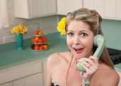 Surprised Woman On Phone