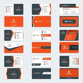 Set Of Modern Business Card Print Templates. Horizontal Business Cards. Red And Black Colors. Person poster