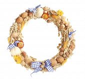 A traditional peasant  wreath isolated on white background