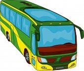 image of motor coach  - vector  - JPG