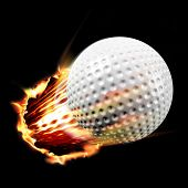 Golf ball through fire