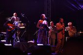 LOULE, PORTUGAL - JUNE 26: Orquestra Buena Vista Social Club performs onstage at Festival Med June 2