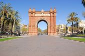 Arc de Triomphe in Barcelona, Spain