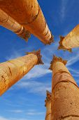 stock photo of artemis  - Corinthian columns of Artemis temple in Jerash - JPG