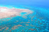 Great Barrier Reef, Cairns Australia, seen from above