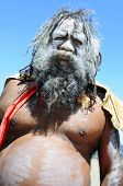 KATOOMBA, AUSTRAILIA - NOV 26: An unidentified aboriginal man on Nov 26, 2009 in Katoomba, Australia