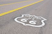 Route 66, symbol of the nostalgic highway of the USA