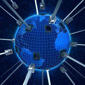 Conecte el planeta tierra (noche)