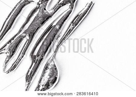 Silver Liquid Metal On A