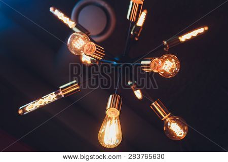 Vintage Edison Light Lamps And