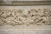 Frieze Sculpture Of Roman Battle Against The Gauls