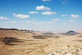 Crater Ramon In Negev Desert.