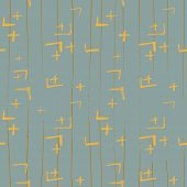 Tie Dye Japanese Geometric Winter Seamless Pattern. Geo Wabi Sabi Bohemian Kimono Print. Scribble Ca poster