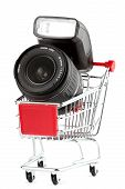 Photo Lens In Shoping Cart